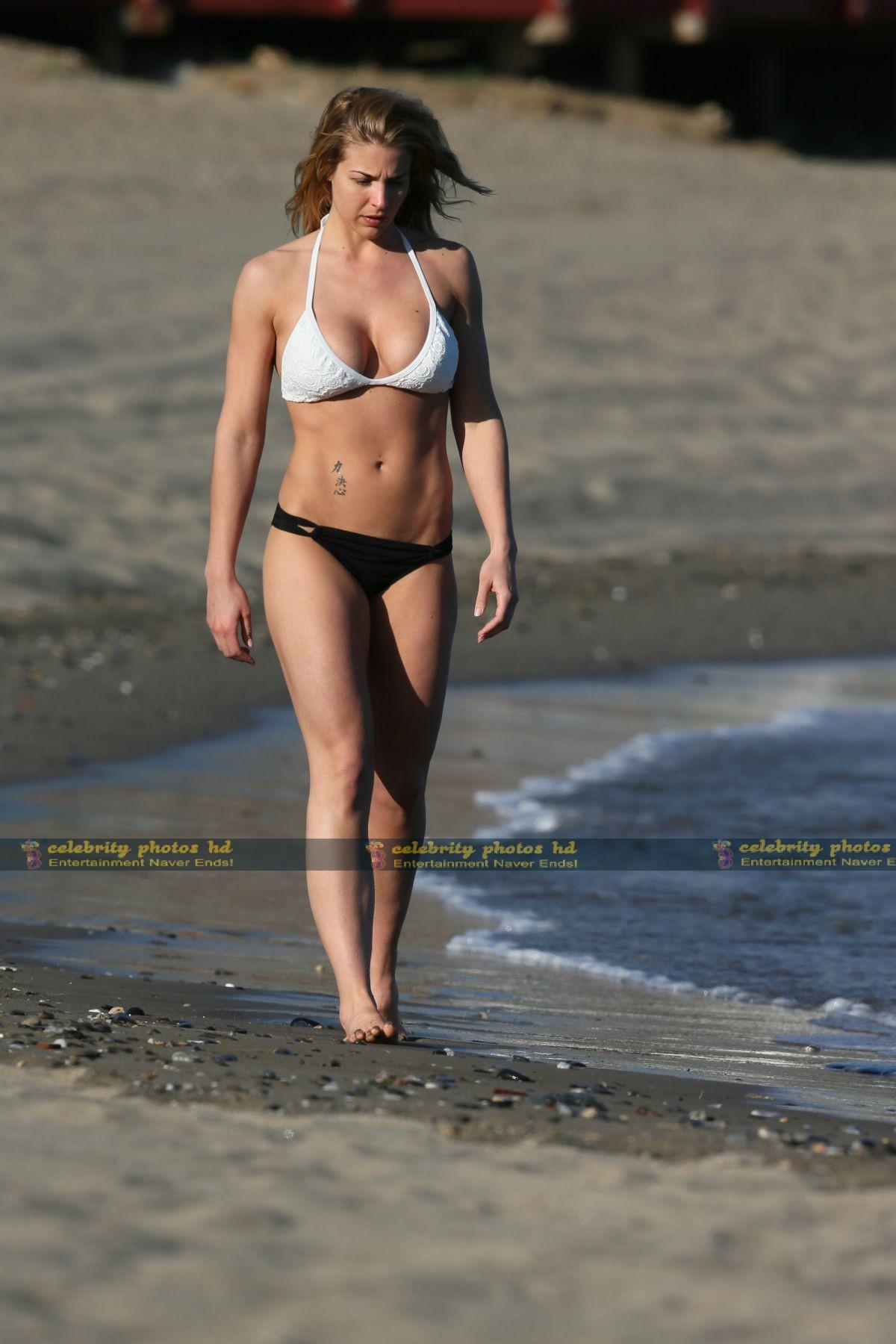 Gemma Atkinson Wearing a bikini in Marbella