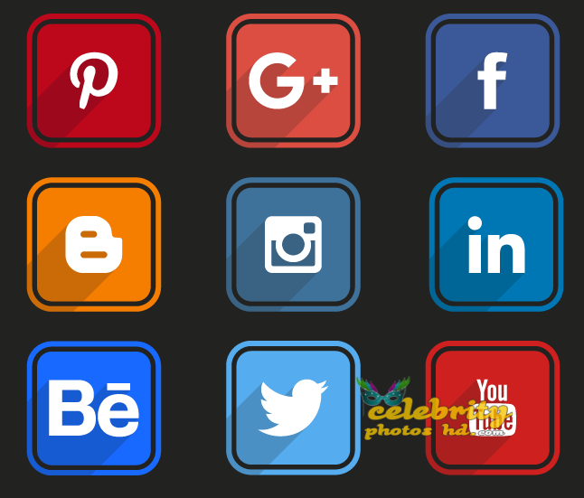 rounded-flat-social-icons