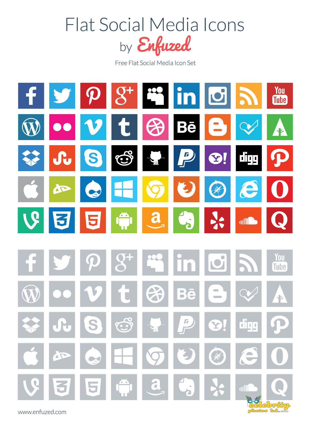 flat-social-media-icons-enfuzed