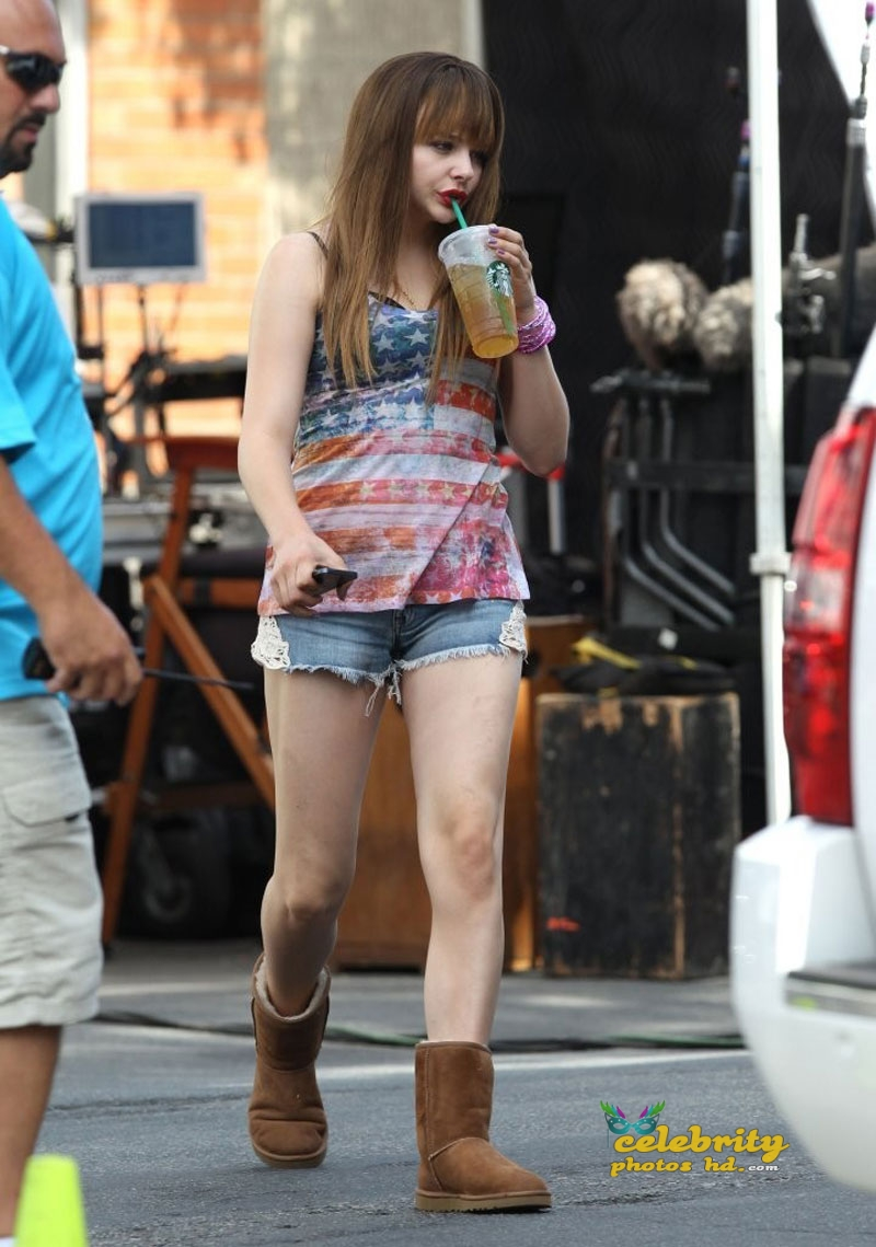 CHLOE MORETZ on The Equalizer Set in Chelsea