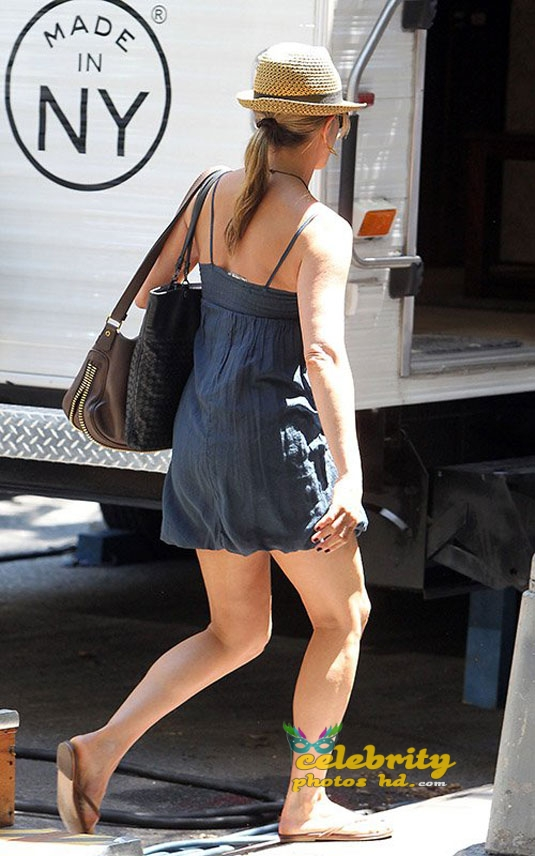 JENNIFER ANISTON on the Squirrels to the Nuts Set in New York