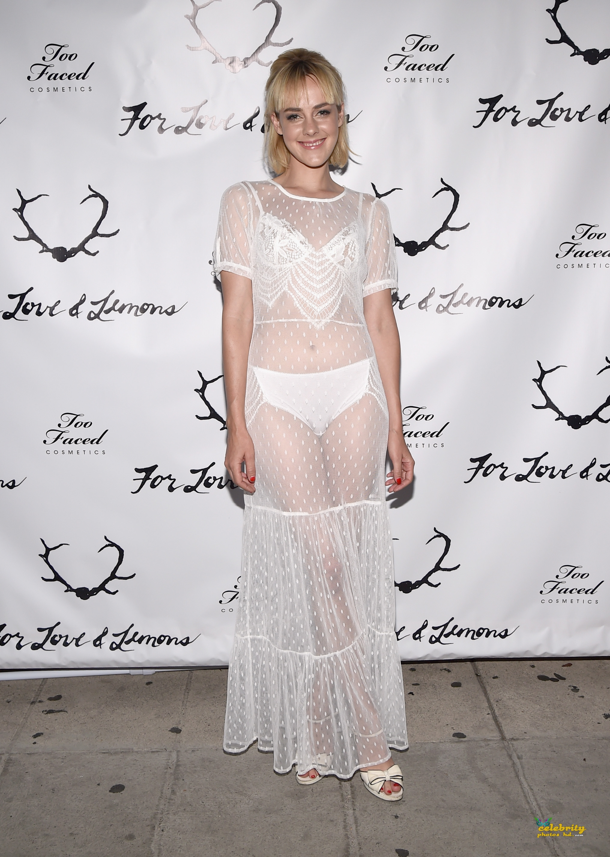 LOS ANGELES, CA - JULY 31:  Co-host Jena Malone attends For Love and Lemons annual SKIVVIES party co-hosted by Too Faced and performance by The Shoe at The Carondelet House on July 31, 2014 in Los Angeles, California.  (Photo by Michael Buckner/Getty Images For Love & Lemons)