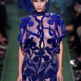 Bella Hadid hot transparent dresses at Fashion Week in Paris (2)