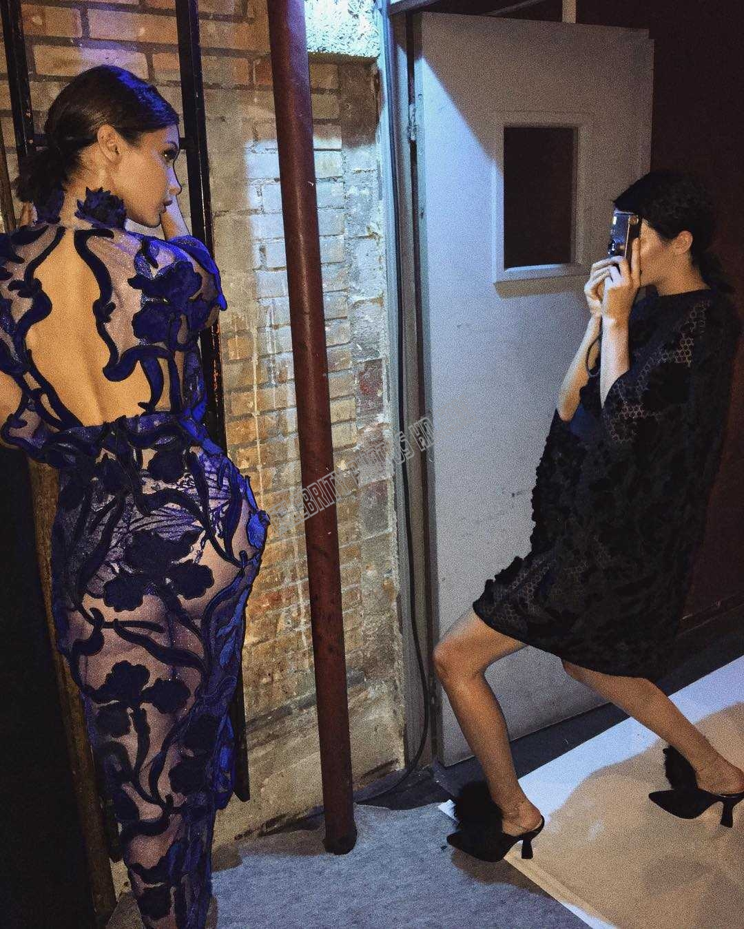 Bella Hadid hot transparent dresses at Fashion Week in Paris (6)