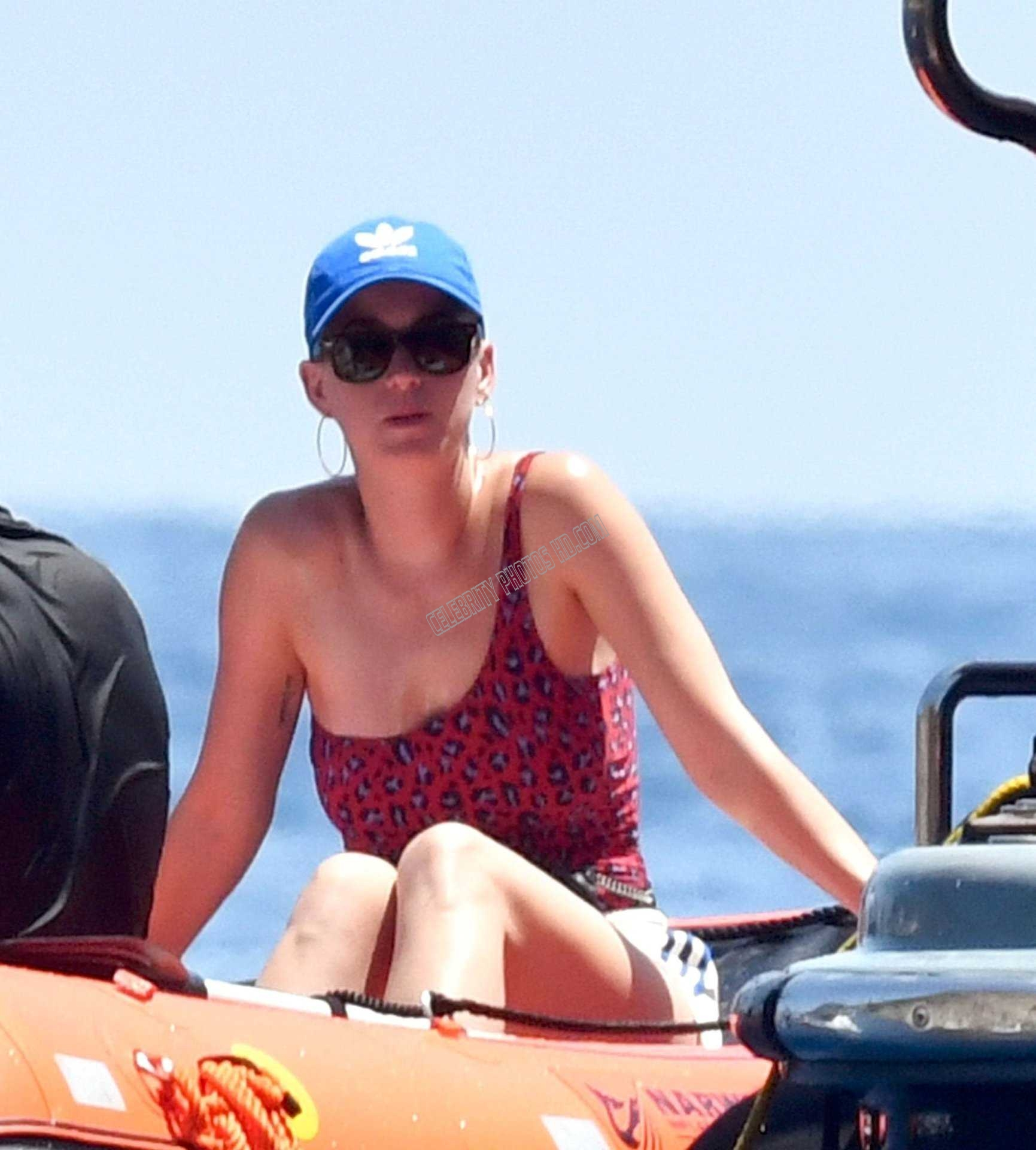 Katy Perry Red Swimsuit (6)
