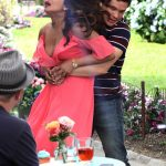 Priyanka Chopra Cleavage, on the Set of Isn't It Romantic