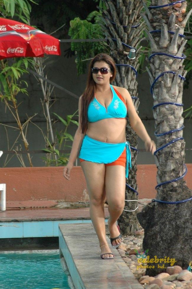Sindhu Blue Swimming Suit Hot Photos