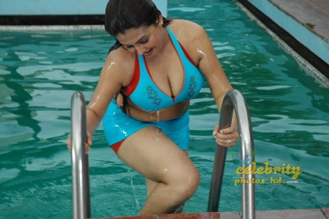 Sexy Sindhu Blue Swimming Suit Hot Photos 4