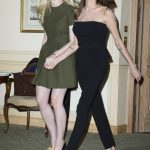 Hollywood Actress Angelina Jolie & Elle Fanning  at 'Maleficent' Photocall in Paris