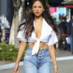 Eiza Gonzalez Candids in Torn Jeans in Los Angeles