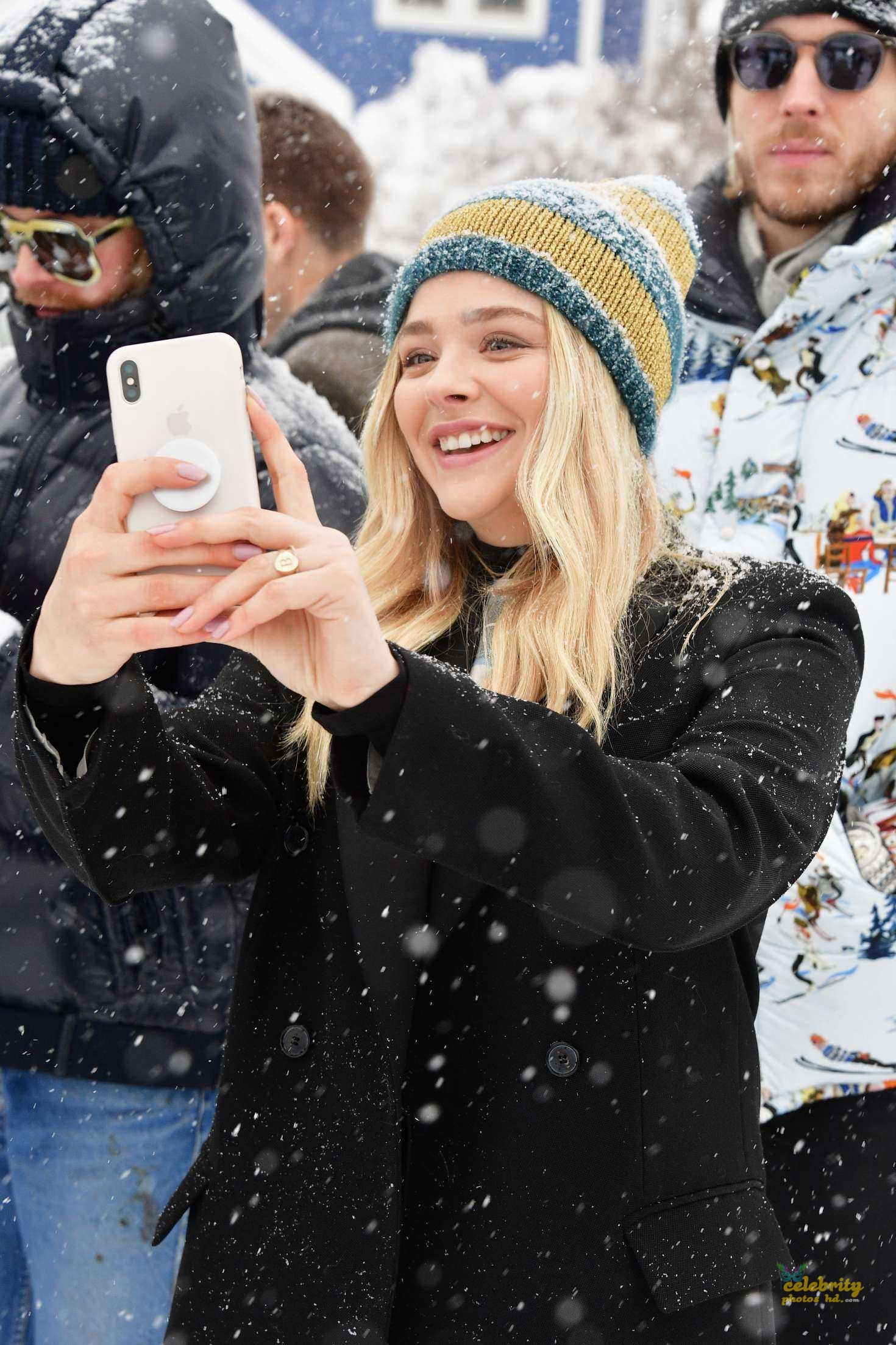 Chloe Moretz at Respect Rally while its Snowing in Park City (1)