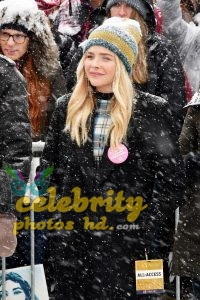Chloe Moretz at Respect Rally while its Snowing in Park City (2)