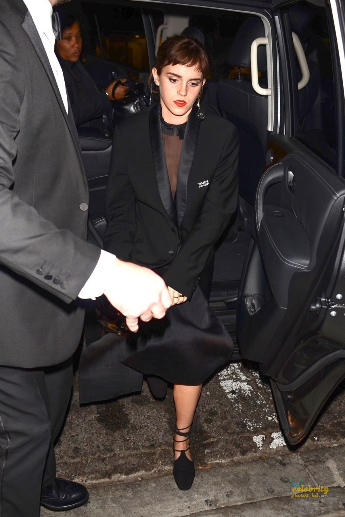 EMMA WATSON Arrives at Chiltern Firehouse in London (4)