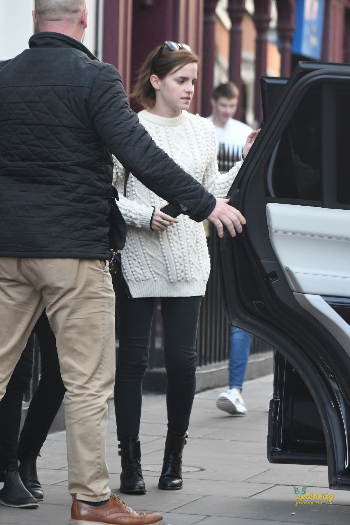 EMMA WATSON Arrives at Chiltern Firehouse in London (5)
