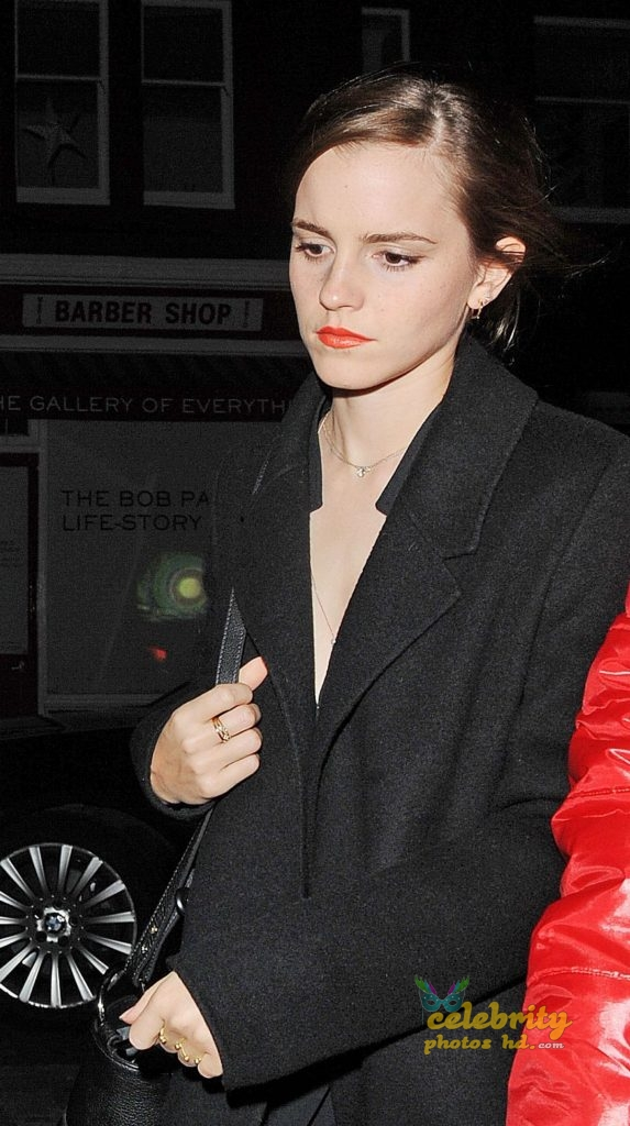 EMMA WATSON Arrives at Chiltern Firehouse in London (7)