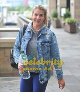 Gemma Atkinson Booty, Ariving at 'Strictly Come Dancing' Rehearsals (1)