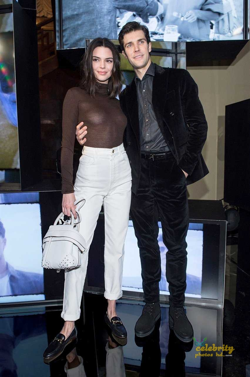 Kendall Jenner at Tod's Spring 2018 Campaign Launch in Milan (3)