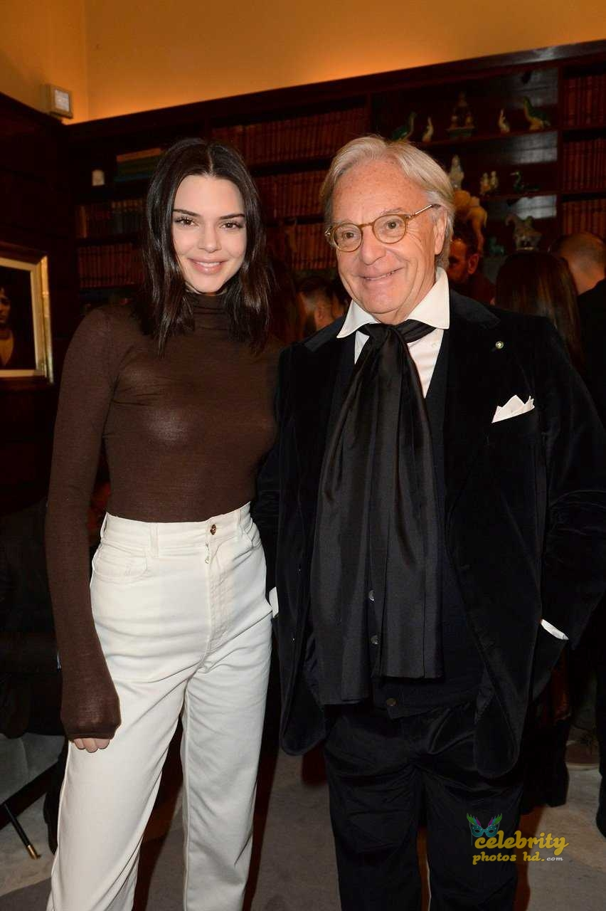 Kendall Jenner at Tod's Spring 2018 Campaign Launch in Milan (6)