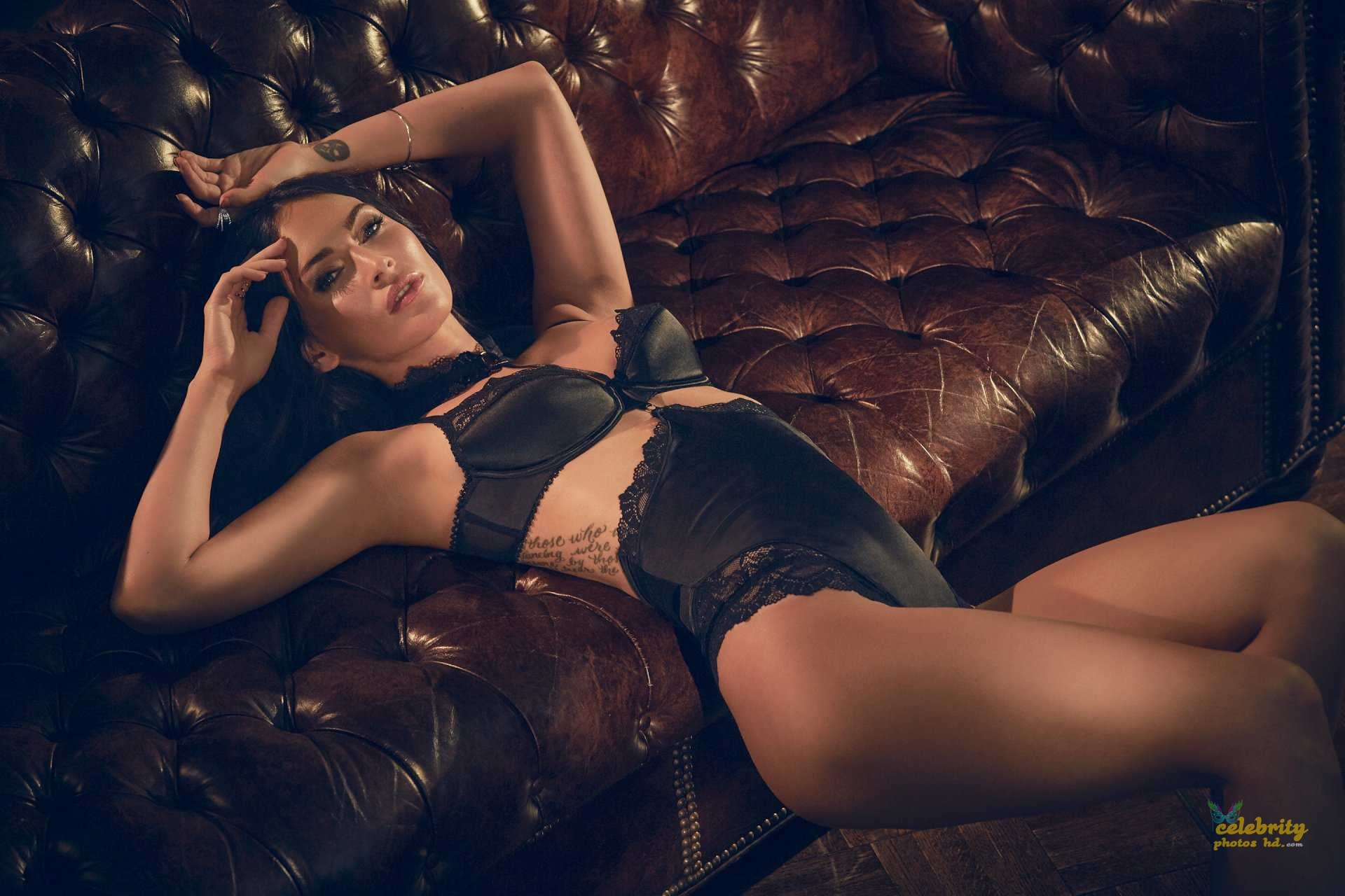 Megan Fox in Fredericks's of Hollywood Lingerie Photoshoot (2)