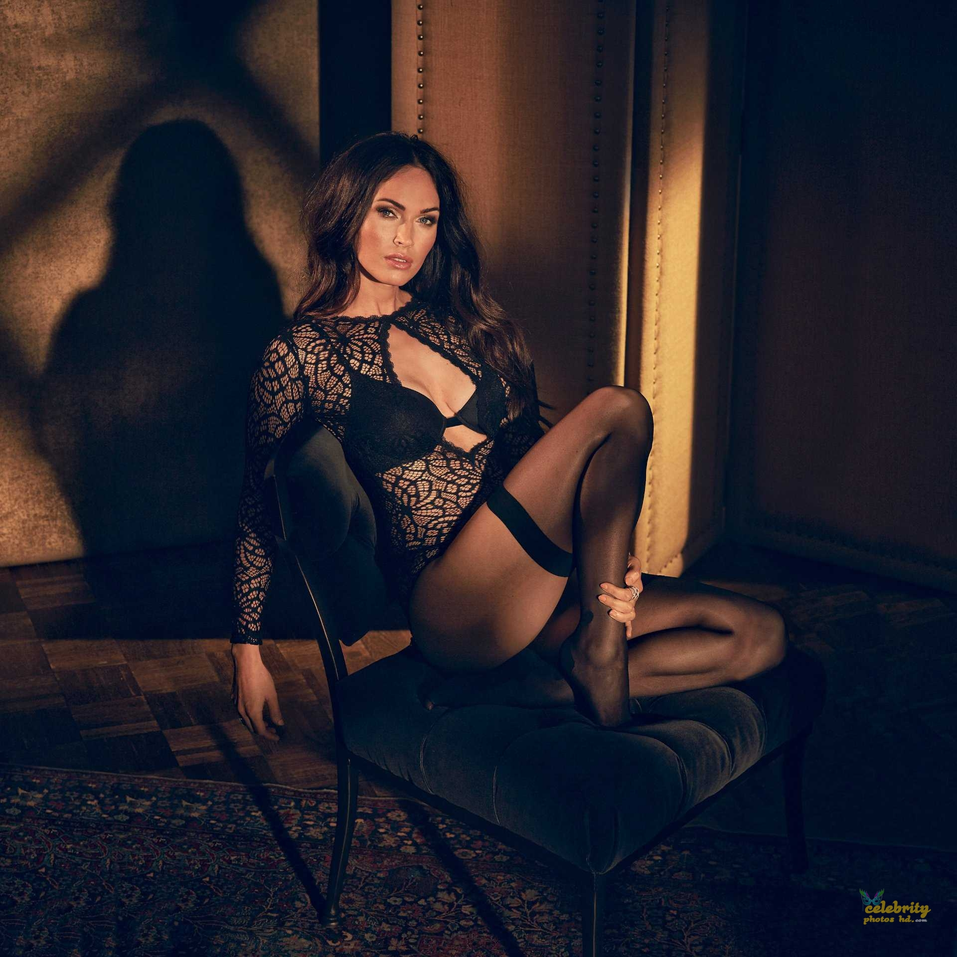 Megan Fox in Fredericks's of Hollywood Lingerie Photoshoot (6)