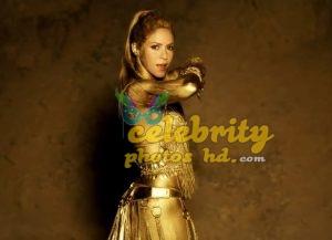 Shakira Perro Fiel Video Gold Body Paint (2)