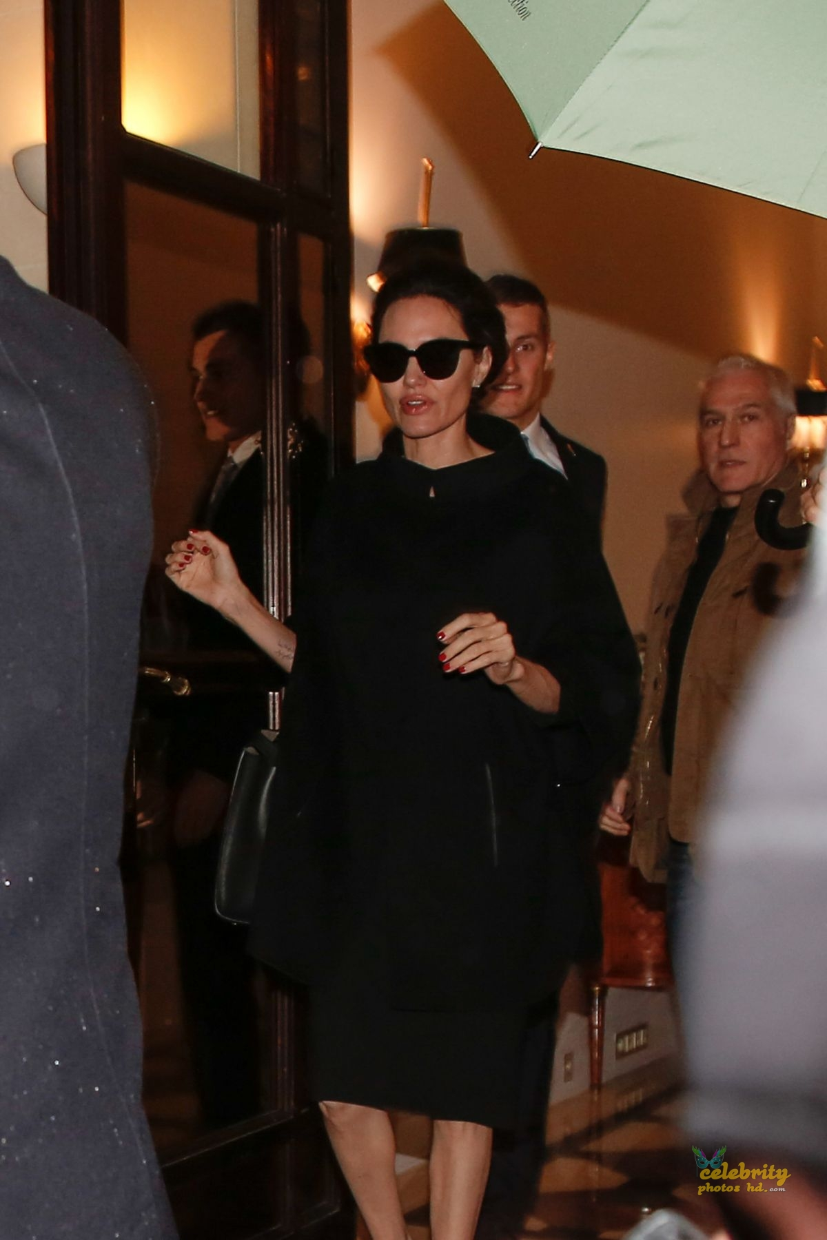 ANGELINA JOLIE Leaves Her Hotel in Paris (1)