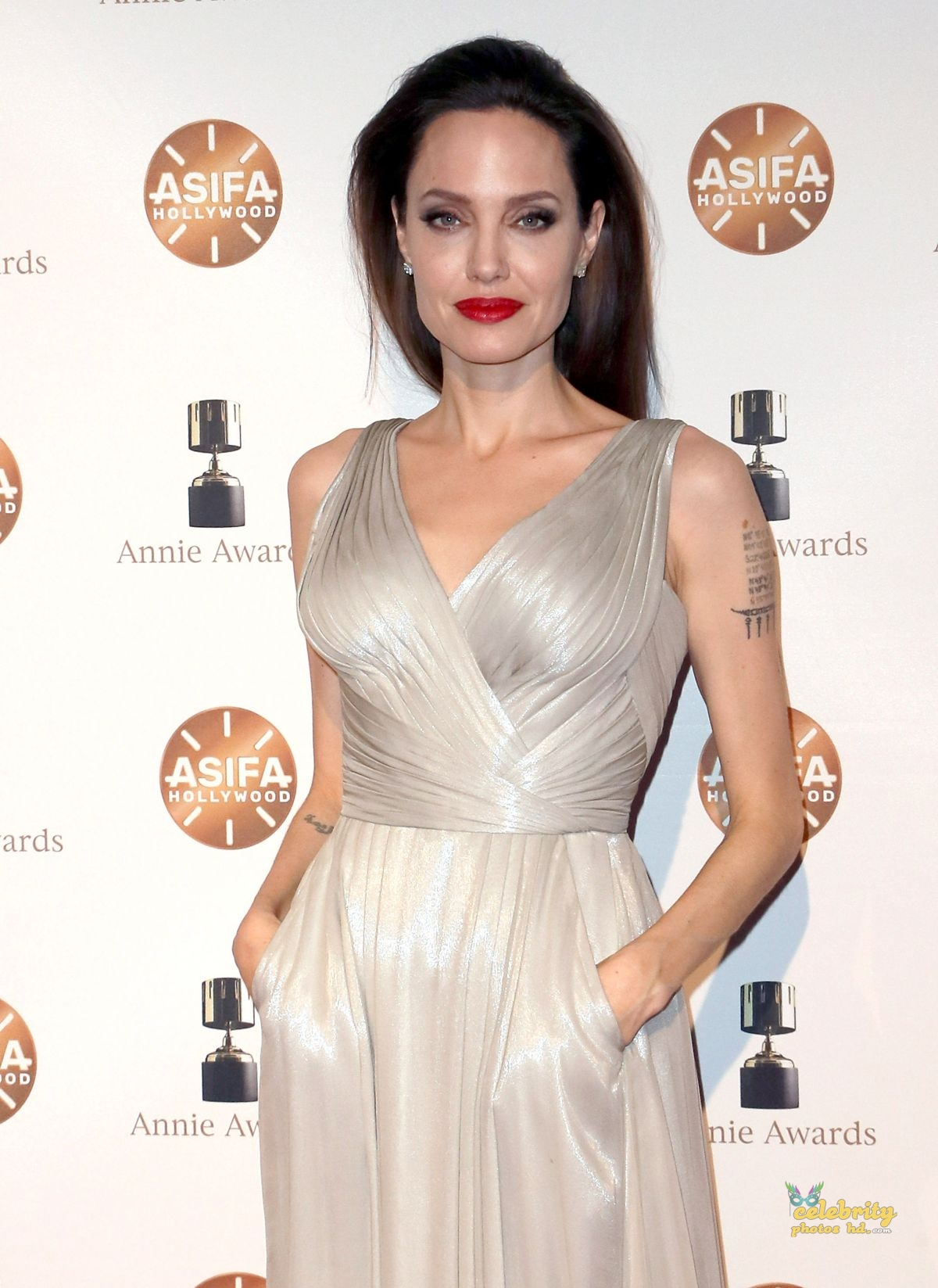 ANGELINA JOLIE at 45th Annual Annie Awards in Los Angeles (1)