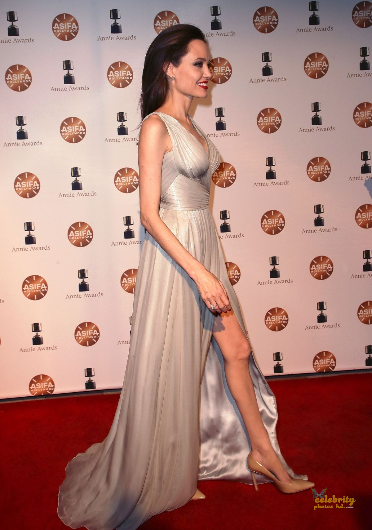 ANGELINA JOLIE at 45th Annual Annie Awards in Los Angeles (4)