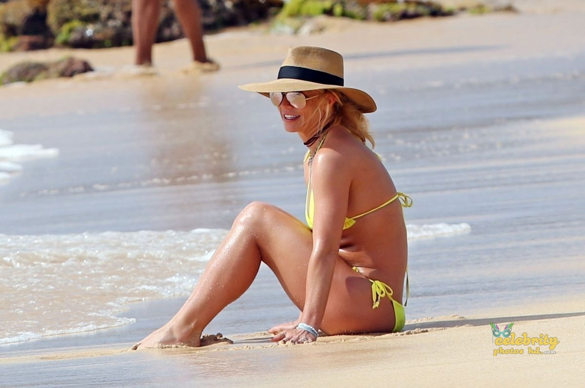 BRITNEY SPEARS in New Bikini at a Beach in Hawaii (2)