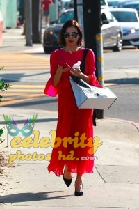 JENNA DEWAN in Red Dress Out in Beverly Hills (1)