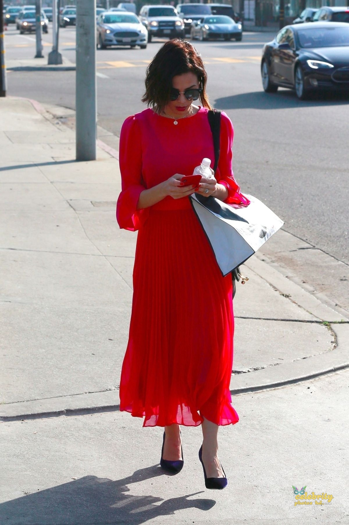 JENNA DEWAN in Red Dress Out in Beverly Hills (2)
