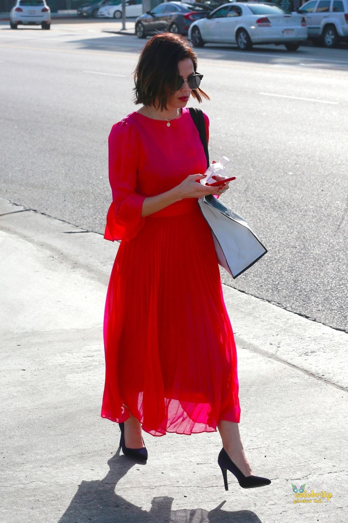 JENNA DEWAN in Red Dress Out in Beverly Hills (3)