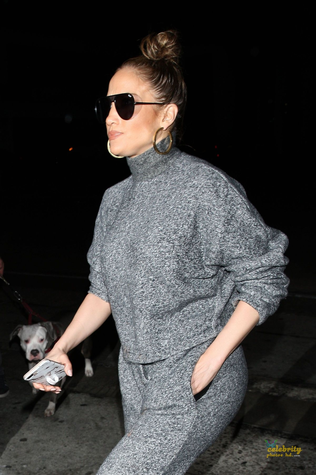 JENNIFER LOPEZ Out for Dinner at Craig's in West Hollywood (5)