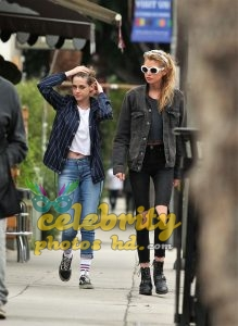 KRISTEN STEWART and STELLA MAXWELL Out and About in Los Angeles (1)