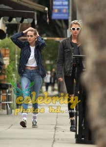 KRISTEN STEWART and STELLA MAXWELL Out and About in Los Angeles (4)