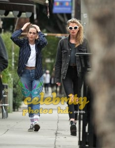 KRISTEN STEWART and STELLA MAXWELL Out and About in Los Angeles (5)