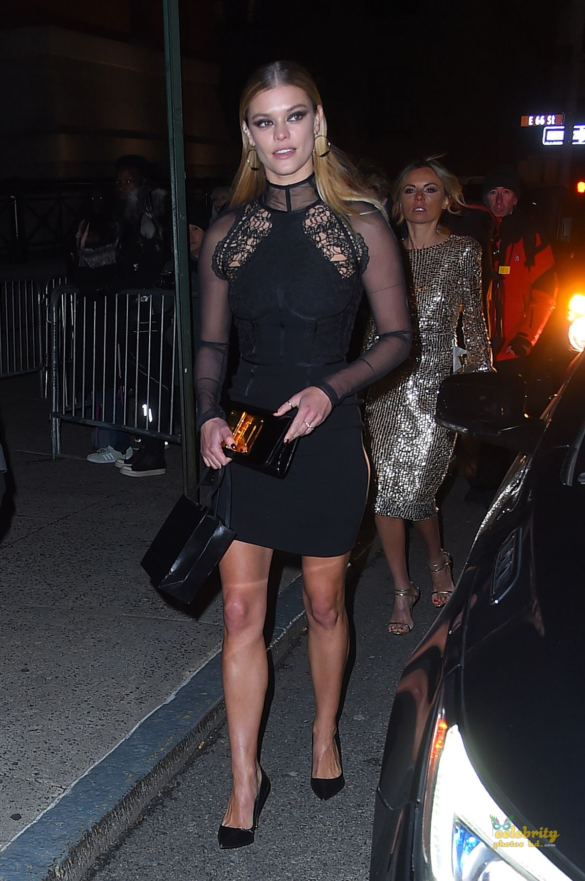 NINA AGDAL Arrives at Tom Ford Fashion Show at New York Fashion Week (1)