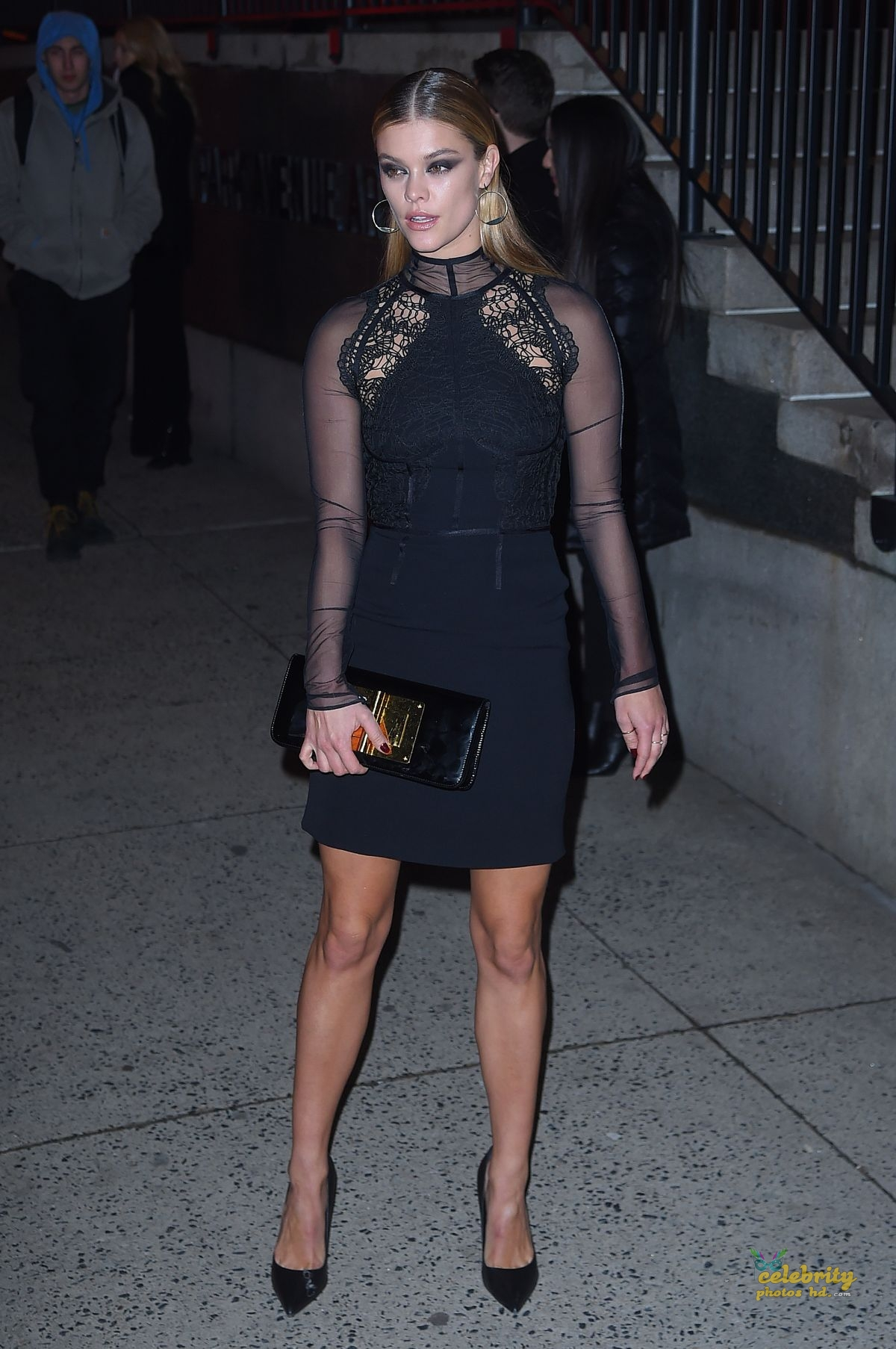 NINA AGDAL Arrives at Tom Ford Fashion Show at New York Fashion Week (2)