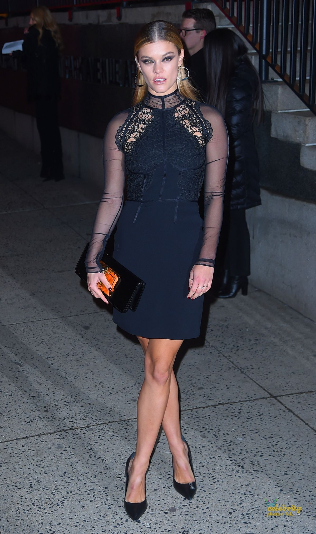NINA AGDAL Arrives at Tom Ford Fashion Show at New York Fashion Week (3)