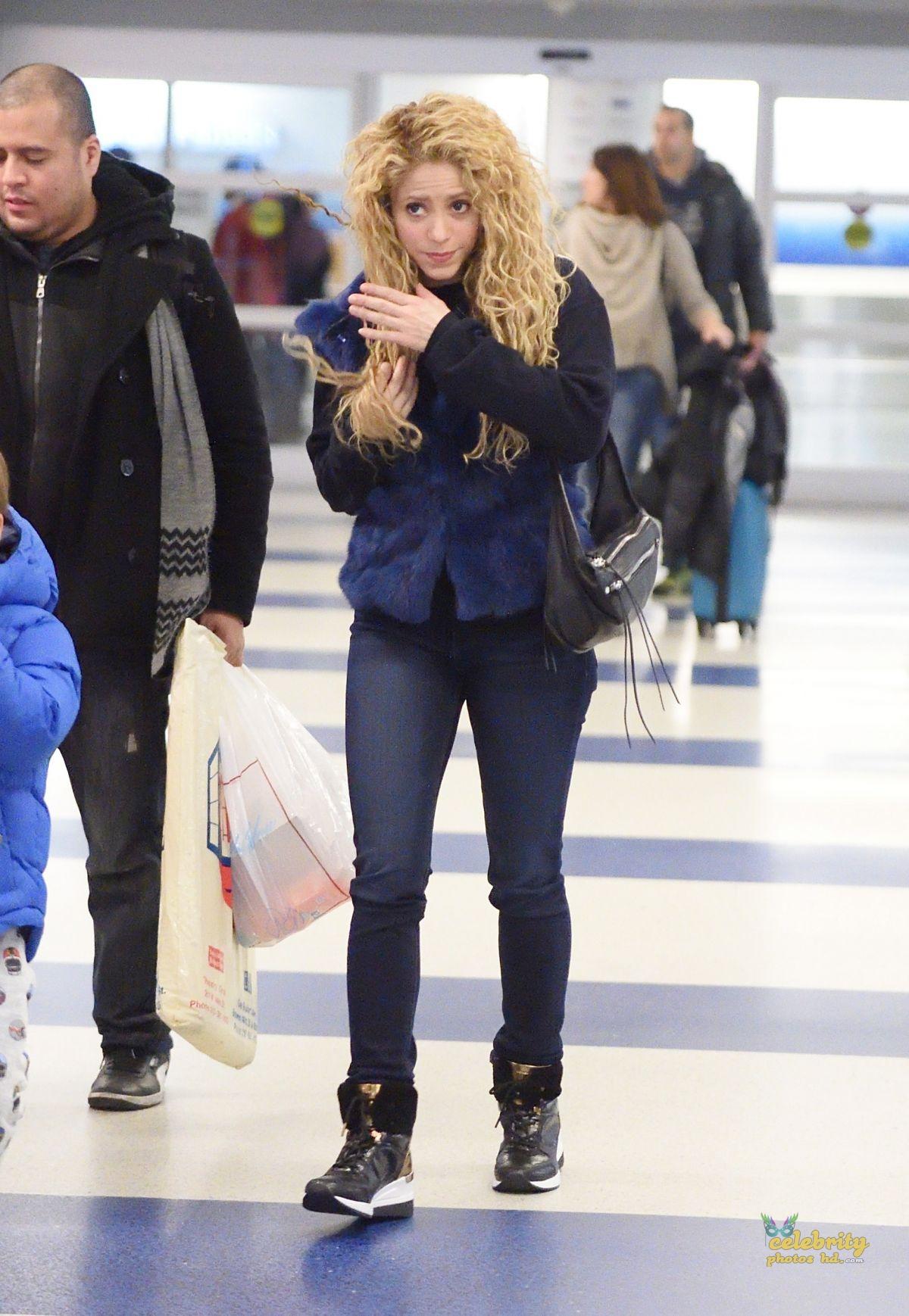 SHAKIRA at JFK Airport in New York (1)