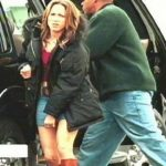 Jennifer Lopez On set filming Gigli