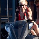 Katy Perry  Red Swimsuit Photos in Capri Island in Italy