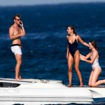 Kimberley Garner in Black Swimsuit Photos in St Tropez
