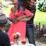Priyanka Chopra Cleavage, on the Set of Isn't It Romantic