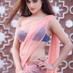 Telugu Actress Sony Charishta Hot Photos in Pink Transparent Saree