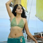 Taapsee Pannu Hot Sexy Navel Photos in Green Saree