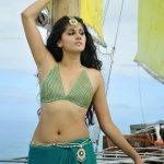 Taapsee Pannu Hot Sexy Navel Photos in Green Saree