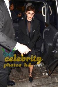 EMMA WATSON Arrives at Chiltern Firehouse in London (4)