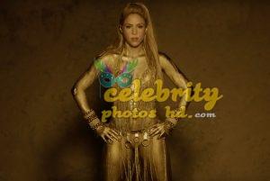 Shakira Perro Fiel Video Gold Body Paint (4)