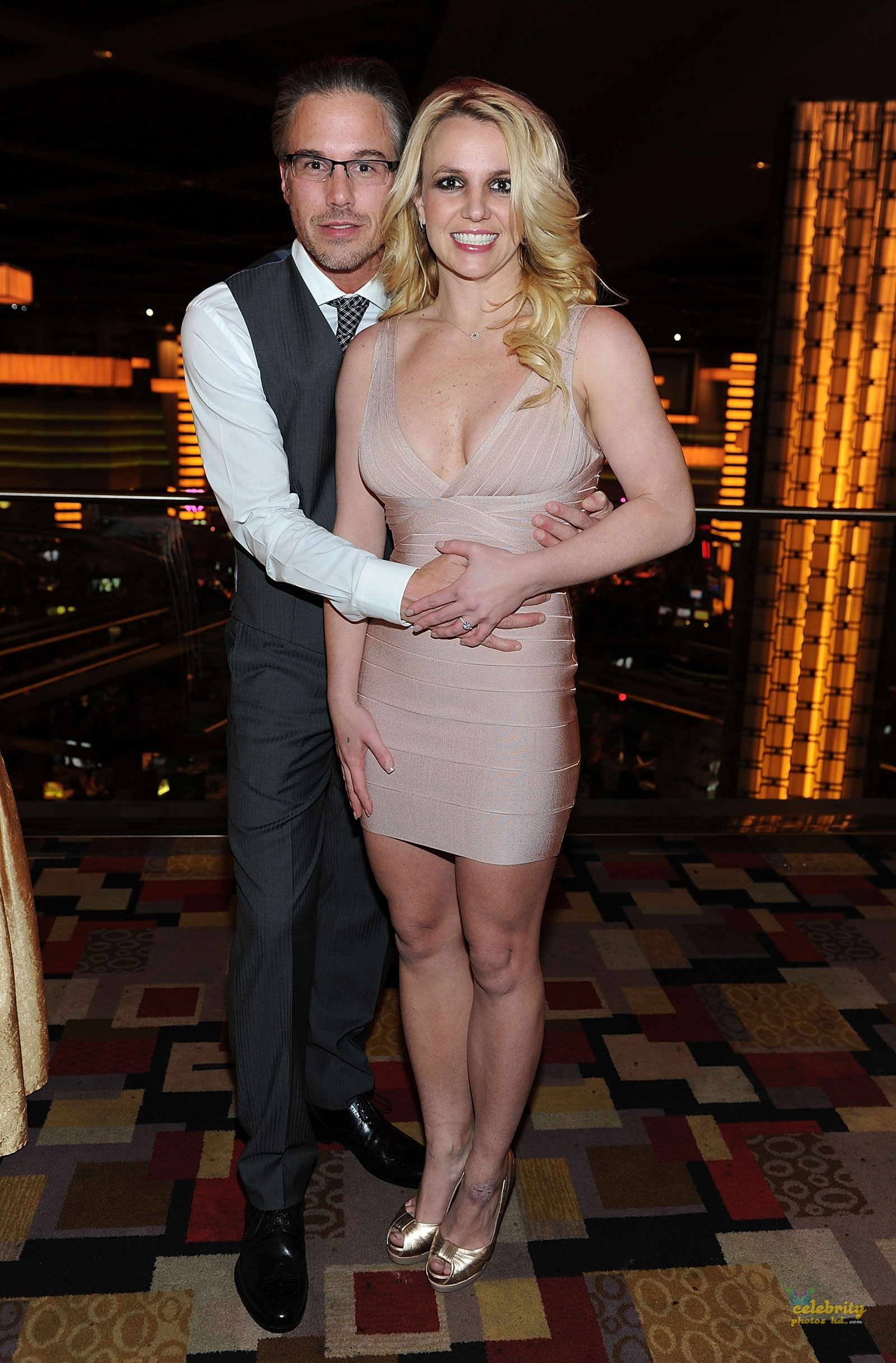 Britney Spears Celebrates Engagement at Planet Hollywood in Las Vegas(4)